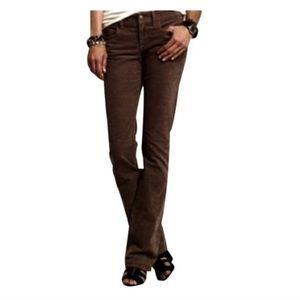 JCrew Favorite Fit Brown Corduroy Boot Cut Pants